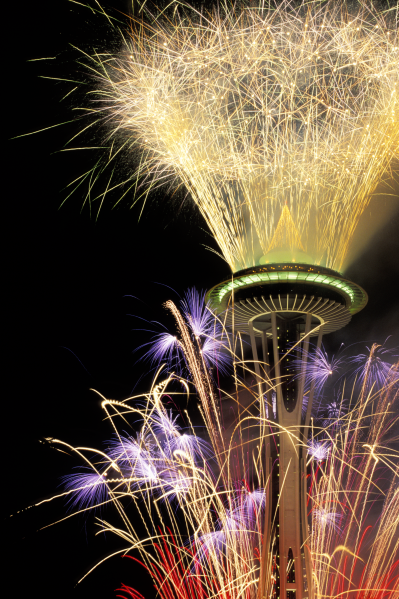 New Year's Eve, Seattle's Space Needle