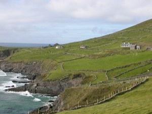 Homes and farmland on the beautiful Dingle Peninsula