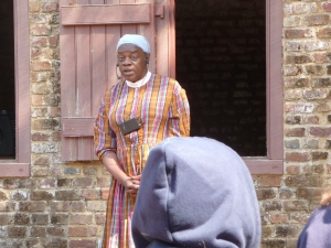 She told us a story in Gullah, and then translated it to English.