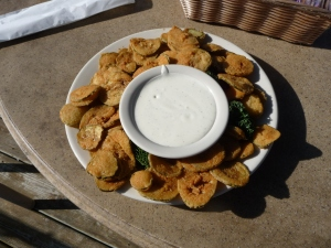 Folks, these are fried DILL PICKLE slices! I have to admit they were good!!!