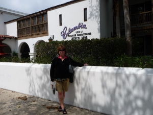 outside the Columbia restaurant, St. Augustine
