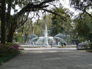 The fountain at Forsyth Park, Savannah