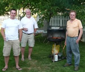 Matt, John, Brian bbq
