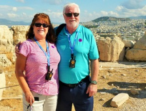At the top of the Acropolis, Athens Sept 2013